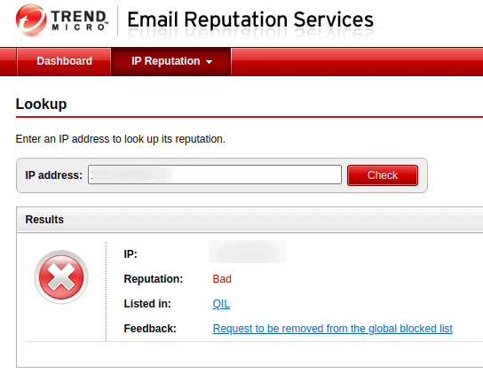 Trend Micro Email Reputation Services